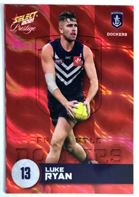 2021 AFL PRESTIGE ORANGE RED PARALLEL CARD- LUKE RYAN FREMANTLE DOCKERS