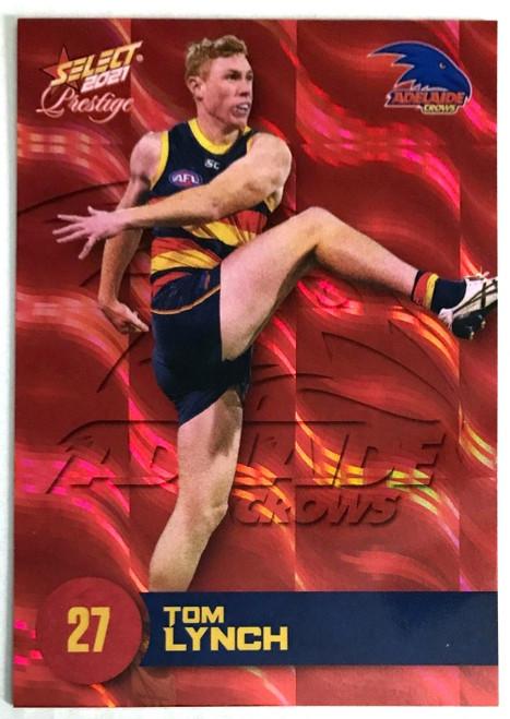 2021 AFL PRESTIGE ORANGE RED PARALLEL CARD- TOM LYNCH ADELAIDE CROWS