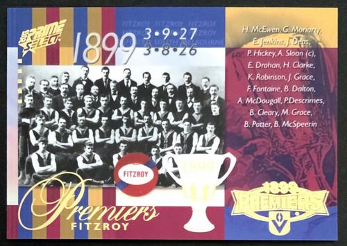 2013 AFL SELECT PRIME 1899 FITZROY LIONS PREMIERS CARD