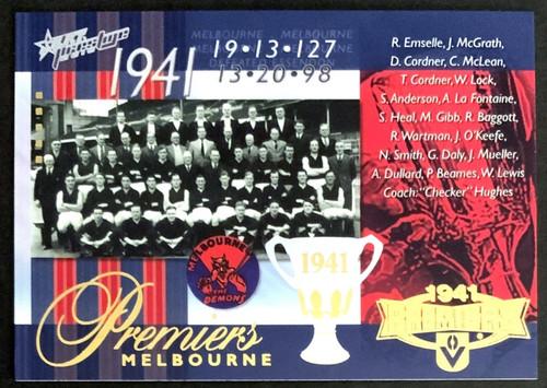2010 AFL SELECT PRESTIGE 1941 MELBOURNE DEMONS PREMIERS CARD