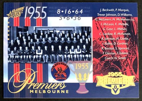 2008 AFL SELECT CLASSIC 1955 MELBOURNE DEMONS PREMIERS CARD