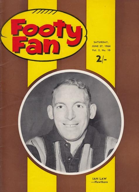 FOOTY FAN MAGAZINE Saturday June 27 1964 Vol.2 No10 Edition