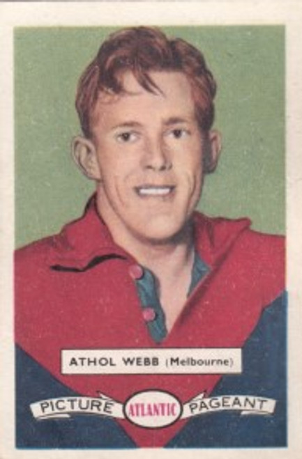 1958 Atlantic Victorian league Stars Melbourne Demons ATHOL WEBB