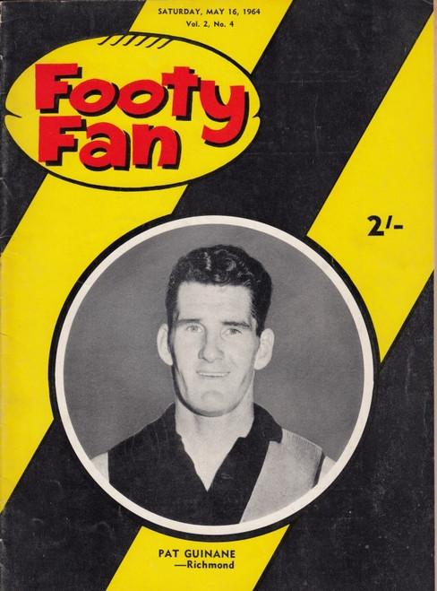 FOOTY FAN MAGAZINE Saturday May 16 1964 Vol.4 No5 Edition