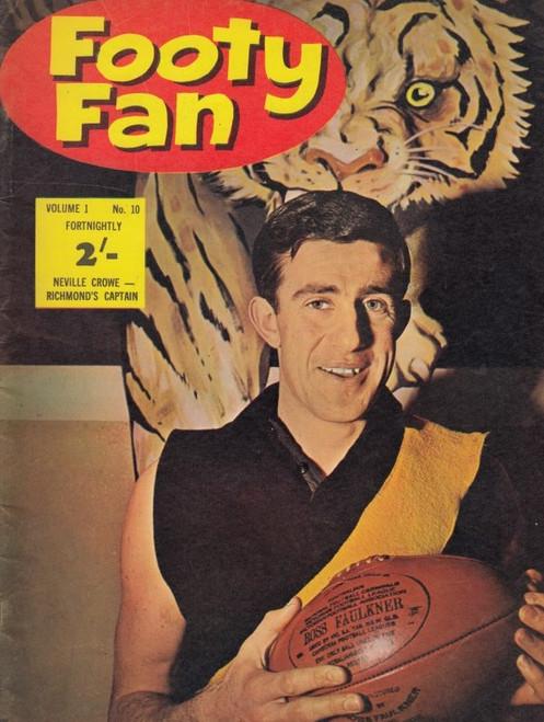 FOOTY FAN MAGAZINE  1963 Vol.1 No10 Edition