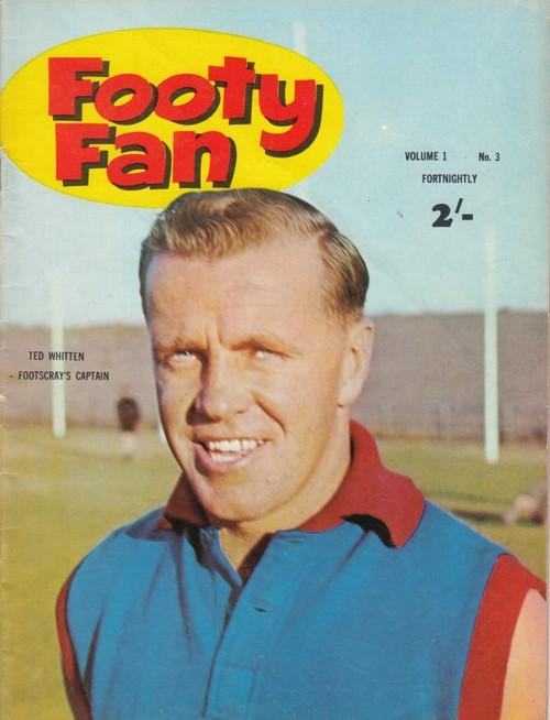 FOOTY FAN MAGAZINE 1963  Vol.1 No3 Edition