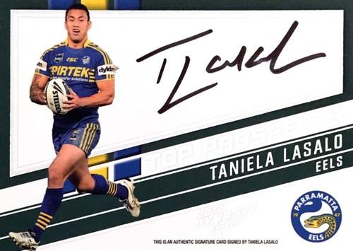 2012 NRL Select Dynasty TANIELA LASALO PARRAMATTA EELS Top Prospects Signature Card