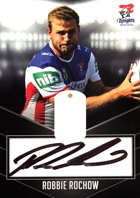 2014 NRL ESP ELITE ROBBIE ROCHOW NEWCASTLE KNIGHTS Signature Card
