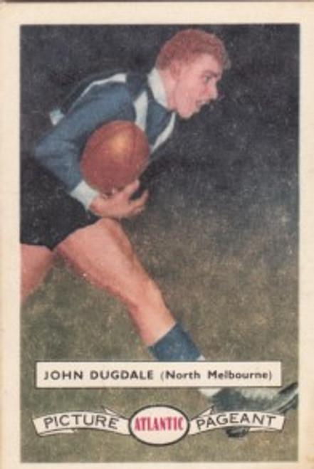 1958 Atlantic Victorian league Stars North Melbourne Kangaroos JOHN DUGDALE