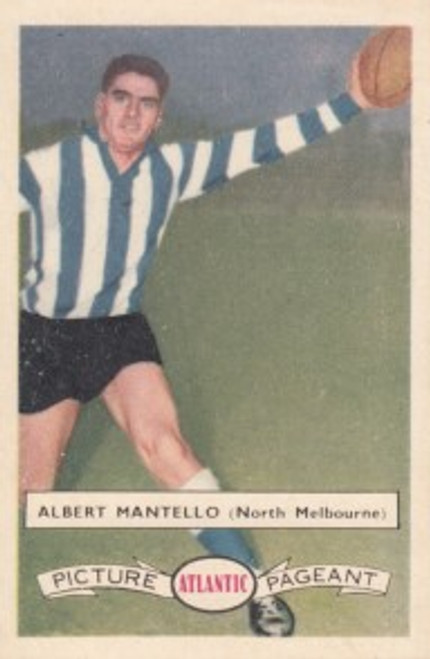 1958 Atlantic Victorian league Stars North Melbourne Kangaroos ALBERT MANTELL0