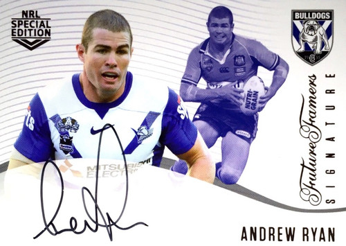 2018 NRL Special Edition ANDREW RYAN CANTERBURY BULLDOGS Future Famers Signature Card