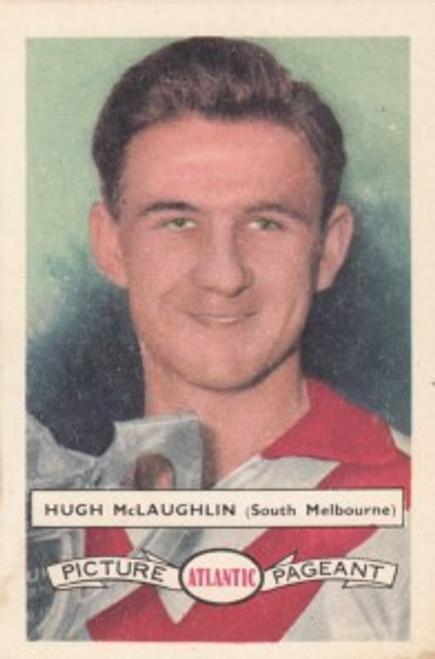 1958 Atlantic Victorian league Stars South Melbourne Swans HUGH McLAUGHLIN