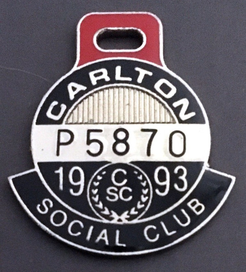 CARLTON SOCIAL CLUB MEMBERS MEDALLION 1993 SEASON