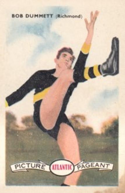 1958 Atlantic Victorian league Stars Richmond Tigers BOB DUMMETT
