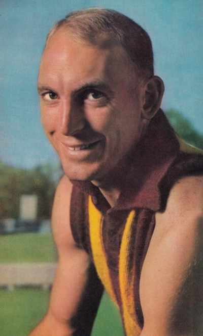 1964 Mobil Football Photos Card IAN LAW Hawthorn Hawks
