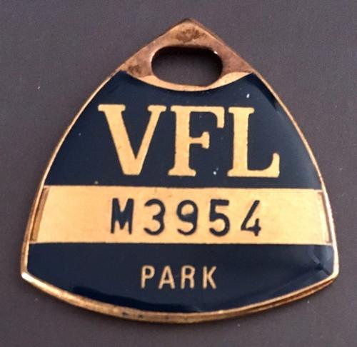 VFL PARK MENS MEMBER MEDALLION 1978 SEASON