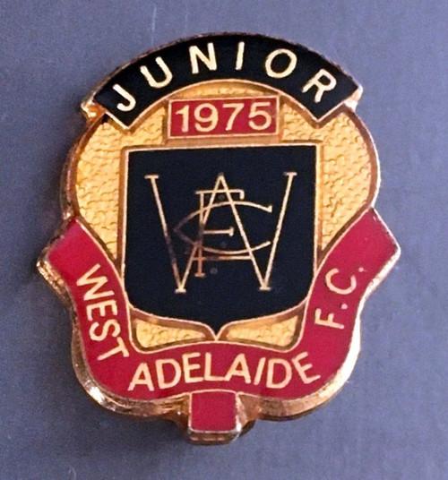 WEST ADELAIDE FOOTBALL CLUB JUNIOR MEMBER MEDALLION 1975 SEASON (pin back)