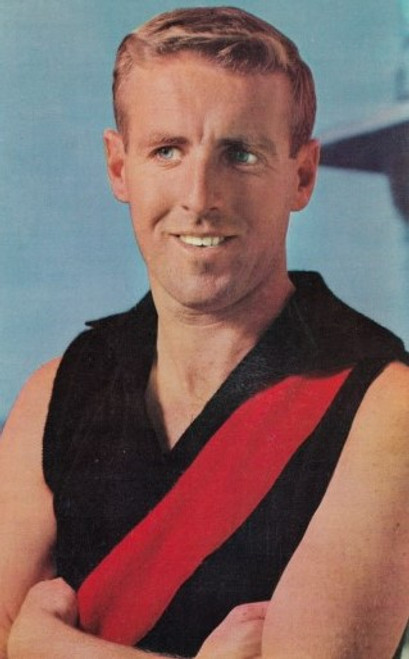 1964 Mobil Football Photos Card JOHN BIRT Essendon Bombers