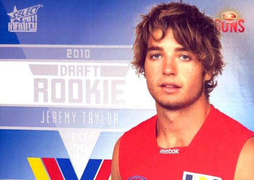 2011 Select AFL Infinity Rookie Card JEREMY TAYLOR Gold Coast Suns
