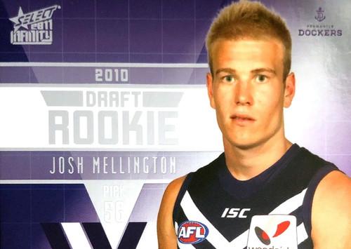 2011 Select AFL Infinity Rookie Card JOSH MELLINGTON Fremantle Dockers