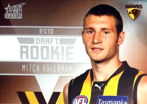 2011 Select AFL Infinity Rookie Card MITCH HALLAHAN Hawthorn Hawks