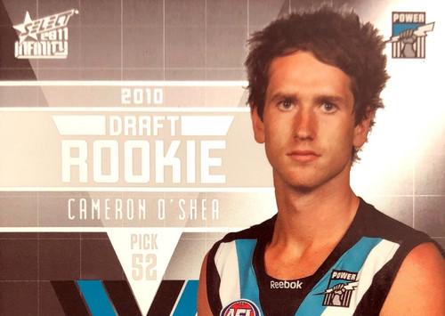 2011 Select AFL Infinity Rookie Card CAMERON OSHEA  Port Adelaide Power