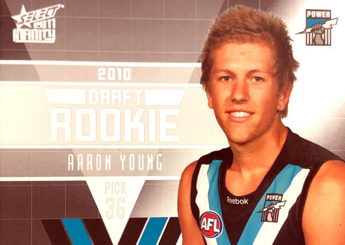 2011 Select AFL Infinity Rookie Card AARON YOUNG  Port Adelaide Power
