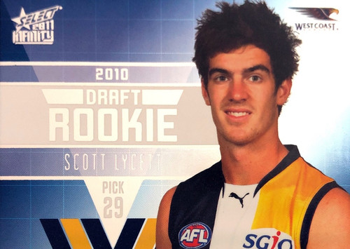 2011 Select AFL Infinity Rookie Card SCOTT LYCETT West Coast Eagles