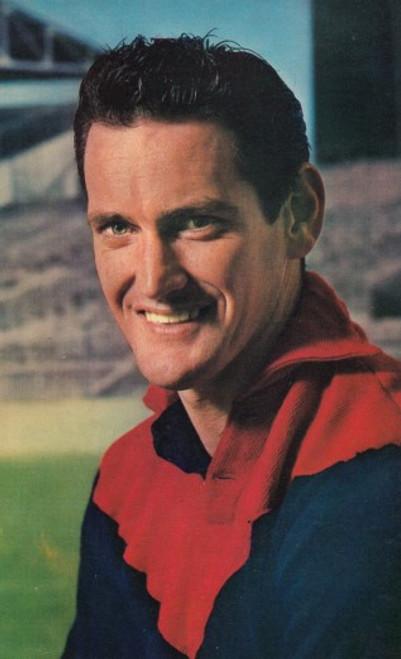 1964 Mobil Football Photos Card TASSIE JOHNSON Melbourne Demons