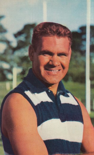 1964 Mobil Football Photos Card GRAHAM (polly) FARMER Geelong Cats