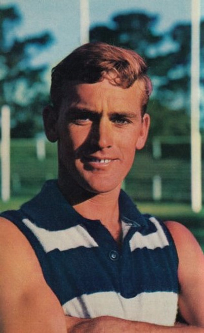 1964 Mobil Football Photos Card ALISTAIR LORD Geelong Cats