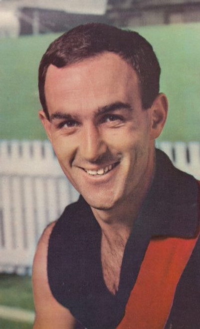 1964 Mobil Football Photos Card JACK CLARKE Essendon Bombers