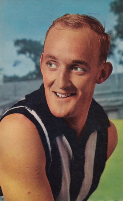 1964 Mobil Football Photos card JOHN HENDERSON Collingwood Magpies