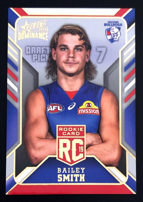 2019 AFL Select Dominance Rookie Card BAILEY SMITH Western Bulldogs