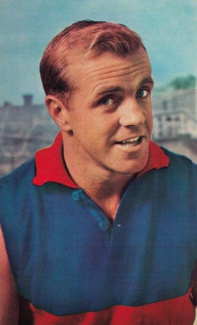 1964 Mobil Football Photos Card TED WHITTEN Footscray Bulldogs