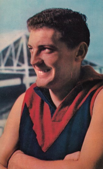 1964 Mobil Football Photos Card BRIAN DIXON Melbourne Demons