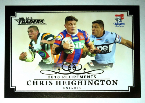 2019 NRL Traders 2018 Retirements CHRIS HEIGHINGTON Newcastle Knights