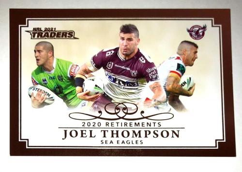 2020 NRL Traders 2019 Retirements JOEL THOMPSON Manly Sea-Eagles