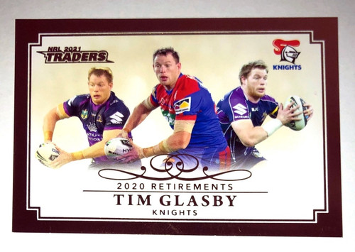 2020 NRL Traders 2019 Retirements TIM GLASBY Newcastle Knight