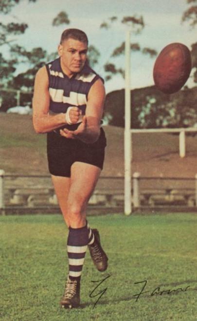 1965 Mobil Football Photos Card GRAHAM FARMER Geelong Cats