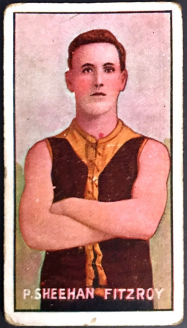 1907 Standard Cigarettes- Sniders & Abrahams C Series P SHEEHAN Fitzroy Lions