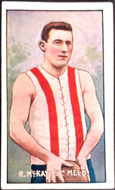 1907 Standard Cigarettes- Sniders & Abrahams C Series R McKAY South Melbourne Swans