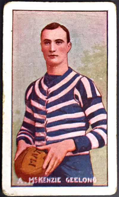 1907 Standard Cigarettes- Sniders & Abrahams C Series A McKENZIE Geelong Cats