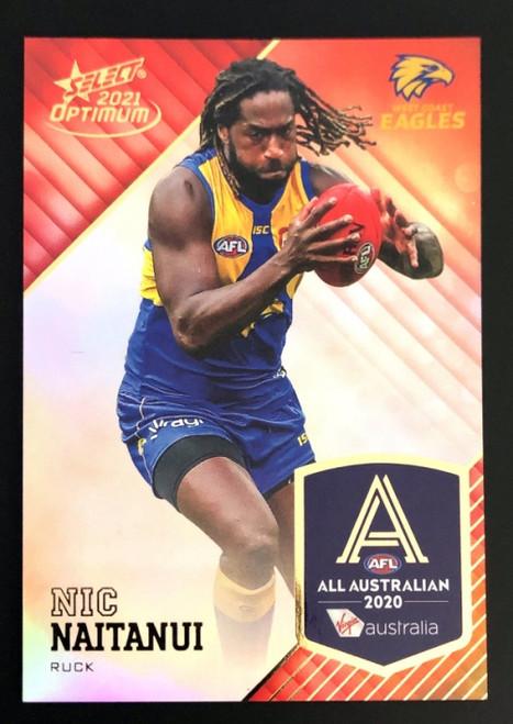 2021 AFL Select Optimum All Australian NIC NAITANUI West Coast Eagles card