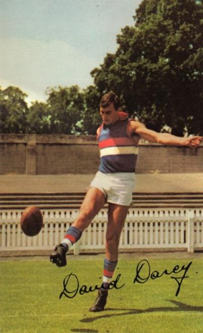 1965 Mobil Football Photos Card DAVID DARCY Footscray Bulldogs