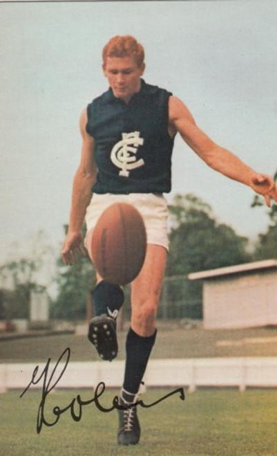 1965 Mobil Football Photo Card GORDON COLLIS Carlton Blues