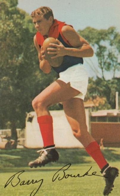 1965 Mobil Football Photos Card BARRY BOURKE Melbourne Demons
