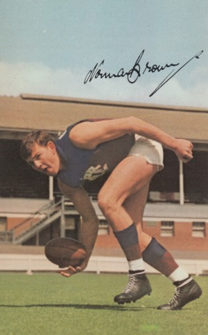 1965 Mobil Football Photos Card NORM BROWN Fitzroy Lions