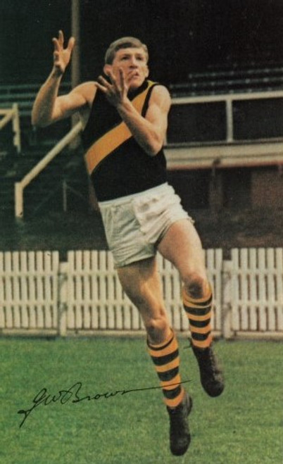 1965 Mobil Football Photos Card BILL BROWN Richmond Tigers