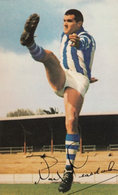 1965 Mobil Football Photos Card NOEL TEASDALE North Melbourne Kangaroos